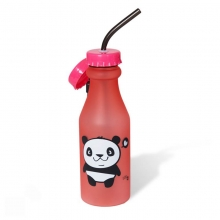 Garrafa com Canudo - Panda
