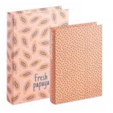 Fresh Papaya - Kit com 2 Caixas Organizadoras