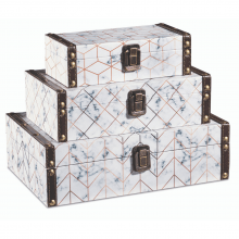 Mármore - Kit c/ 3 Caixas Organizadoras P, M, G