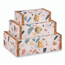 Terrazzo - Kit c/ 3 Caixas Organizadoras P, M, G