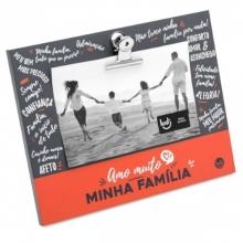 Clipes - Amo Muito Família - Porta Retrato