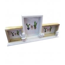 Triple Cactus - Porta Retrato de Mesa