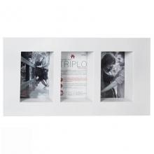 Triplo Branco - Porta Retrato
