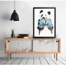 Panda Boxe - Poster com Moldura