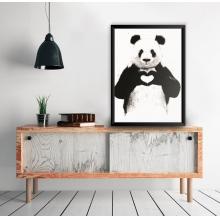 Panda Amor - Poster com Moldura