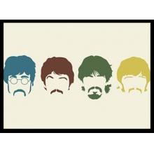 The Beatles Faces - Poster com Moldura