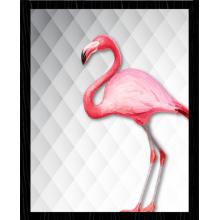 Flamingo - Quadro com Moldura e Vidro