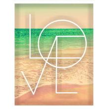 Peace and Love - Conjunto com 2 Quadros com Moldura e Vidro