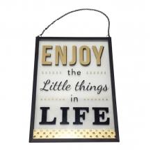 Enjoy Little Things - Placa Decorativa de Vidro