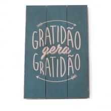Gratidão - Quadro de Madeira Palet