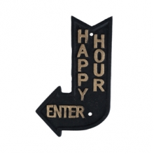 Happy Hour - Placa Decorativa de Ferro