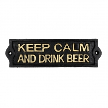 Keep Calm - Placa Decorativa de Ferro