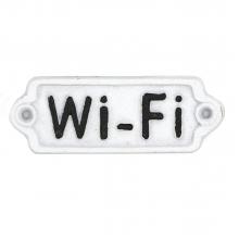 WiFi - Placa Decorativa de Ferro