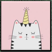 Gato Unicórnio - Quadro em Azulejo