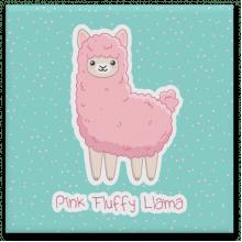 Pink Fluffy Llama - Quadro em Azulejo