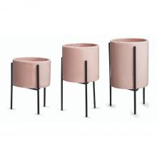 Básicos - Kit com 3 Vasinhos Em Cerâmica (P+M+G)