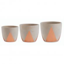 Coroa - Kit com 3 Vasos Em Cimento (P+M+G)
