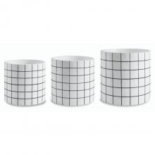Quadriculado - Kit com 3 Vasos Em Cimento (P+M+G)