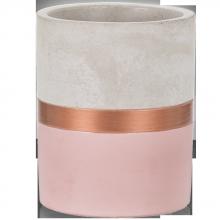 Rosa e Cobre - Tamanho G - Vaso em Cimento