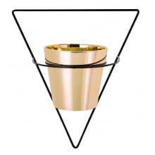 Triângulo Invertido - Vaso com Suporte de Parede