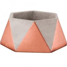 Triângulos - Cachepot Cimento e Cobre
