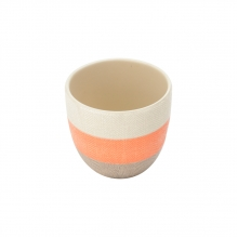 Tricolor Laranja - Vasinho em Cerâmica
