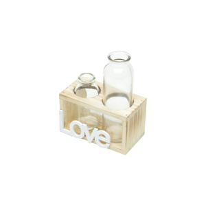 Love - Vaso c/ 2 Garrafinhas
