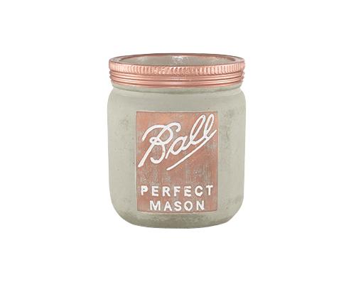 Perfect Mason - Cachepot Cimento e Cobre Tamanho M